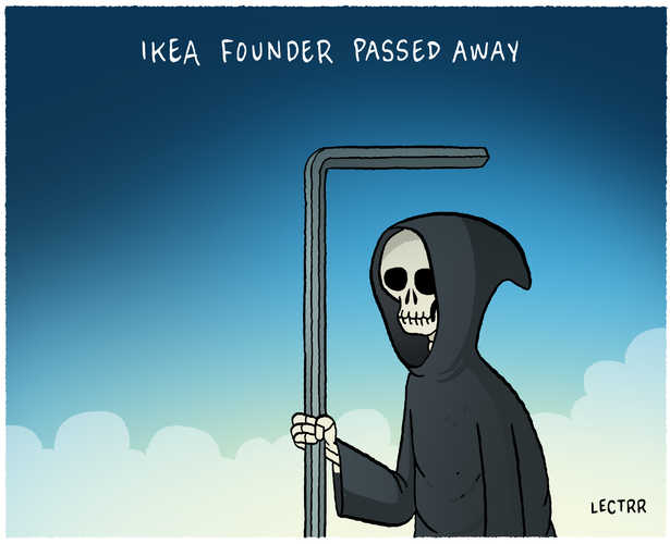 IKEA-founder passed away