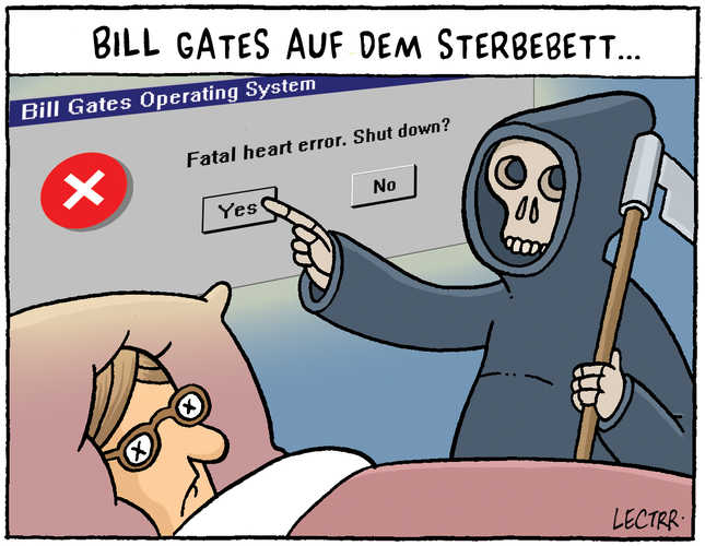 Sterbebett Bill Gates