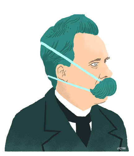 Nietzsche with face mask
